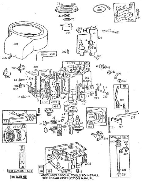 briggs and stratton engine parts diagram briggs stratton briggs stratton engine parts model