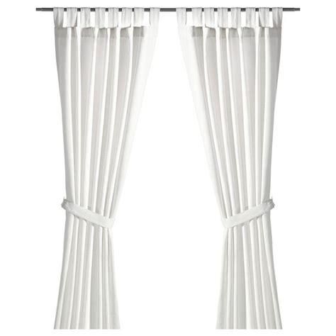 ikea curtains lenda lenda curtains with tie backs 1 pair bleached white