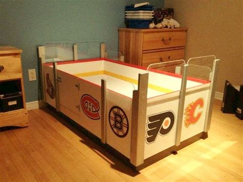 Hockey Crib Bedding Arena Bed Way Better Than A Race Car Bed Cool Things To Buy Car Bed