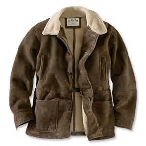 Barn Coats Mens Men S Shearling Barn Coat Shearling Barn Coat Orvis