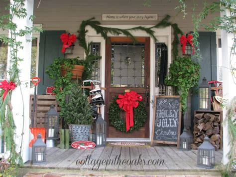 front porch christmas decorating ideas christmas front porch 2012 cottage in the oaks