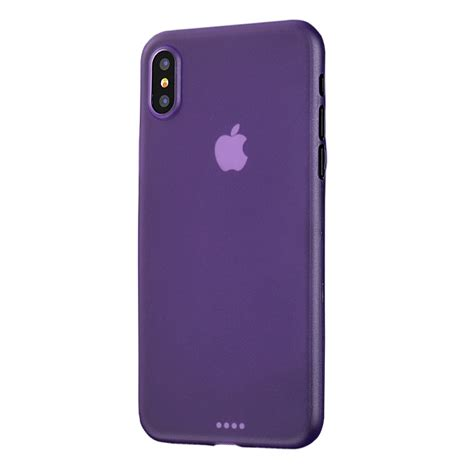 iphone xs 0 3mm ultra thin plastic back cover purple pdair