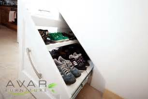 stairs shoe storage bespoke fitted furniture shoes storage solution gallery