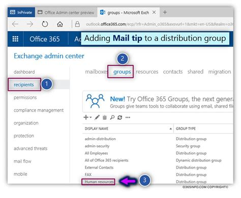 Office 365 Mail Tips Set The Default Reply Option For Owa And Set Mail Tips For