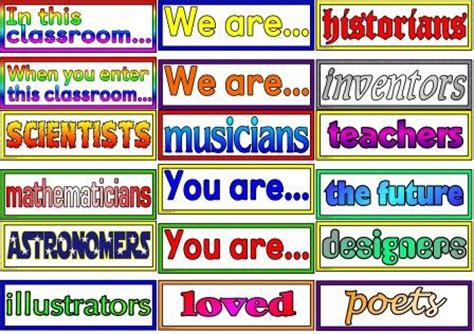 printable classroom banner free and low cost teaching resources posters to cover