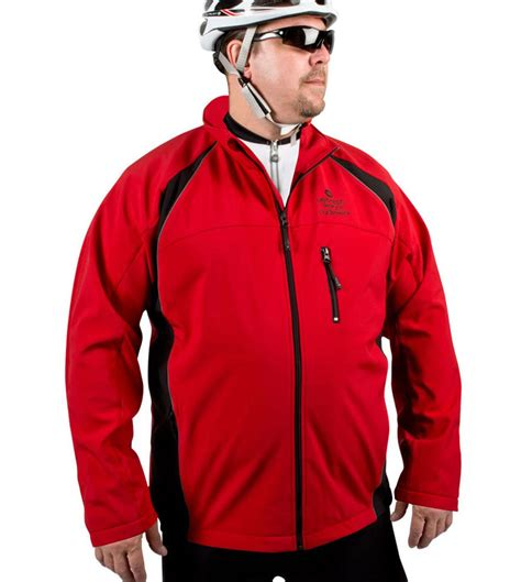 cycling jacket big s windproof thermal softshell cycling jacket