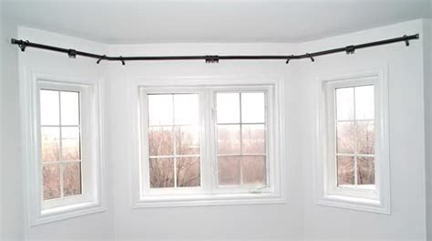 curtain ideas for bow windows curved curtain rod for bow window home design ideas