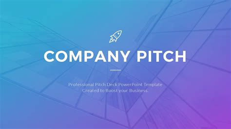 Best Pitch Deck Template Youtube Best Pitch Presentation Template