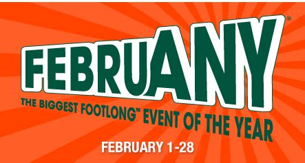 Subway Gift Card Giveaway - subway februany 5 footlong sub event 25 gift card giveaway bargainbriana