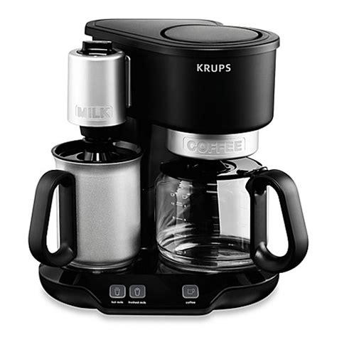 milk frother bed bath and beyond krups 174 km3108 latteccino coffee maker with milk frother