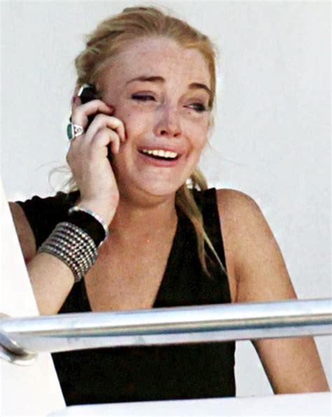 sad celebrity interviews lindsay lohan celebrities crying us weekly