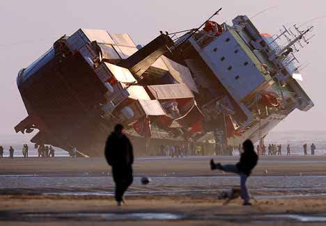 News Roundup Wrecked Cargo Ship And Behaving Badly by Beached Amazing Picture Of The Ferry That Ran Aground In