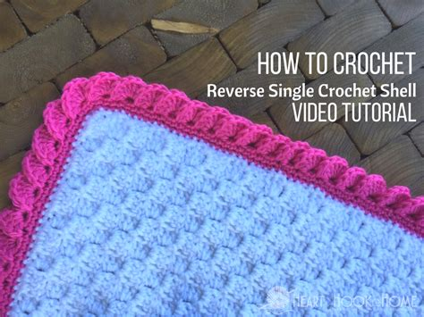 reverse shell crochet border  single crochet video