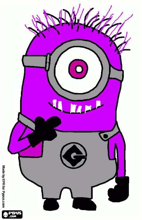 the purple minion coloring pages