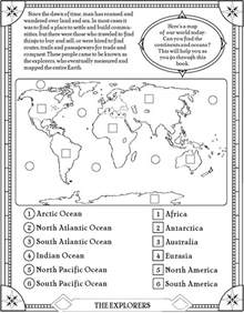 map activities for us geography classes 24 best continents and oceans unit images on