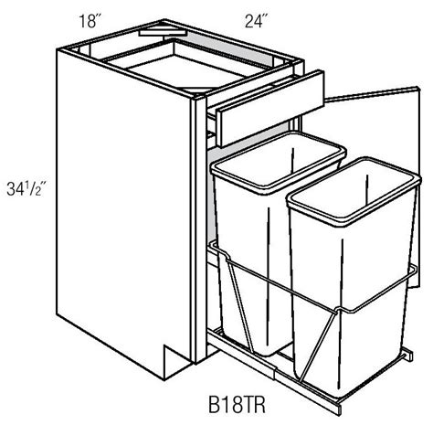trash can cabinet size trash pull out cabinet width imanisr