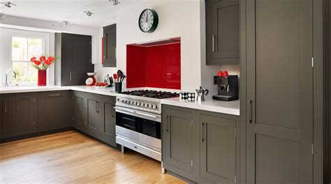 Grey Shaker Kitchen Cabinets grey shaker kitchen from harvey jones