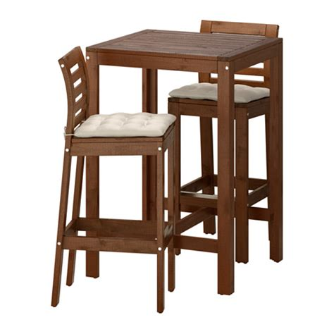 Outdoor Bar Table Ikea 196 Pplar 214 Bar Table And 2 Bar Stools Brown Stained H 229 Ll 246 Beige Ikea