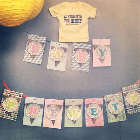 Handmade Baby Shower Banners - baby shower banner baby things