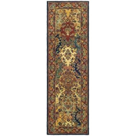 16 ft runner rug safavieh heritage multi burgundy 2 ft 3 in x 16 ft rug runner hg911a 216 the home depot