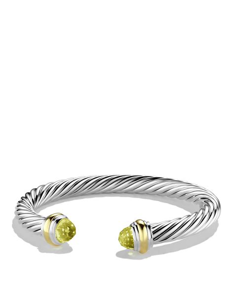 David yurman Cable Classics Bracelet With Lemon Citrine And Gold in Yellow   Lyst