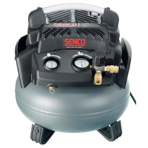 senco pc1280 1 1 2 hp 6 gallon pancake air compressor
