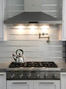 steel kitchen backsplash 20 stainless steel kitchen backsplashes hgtv