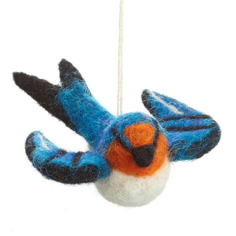 Felt Handmade - handmade felt bird decoration by felt so