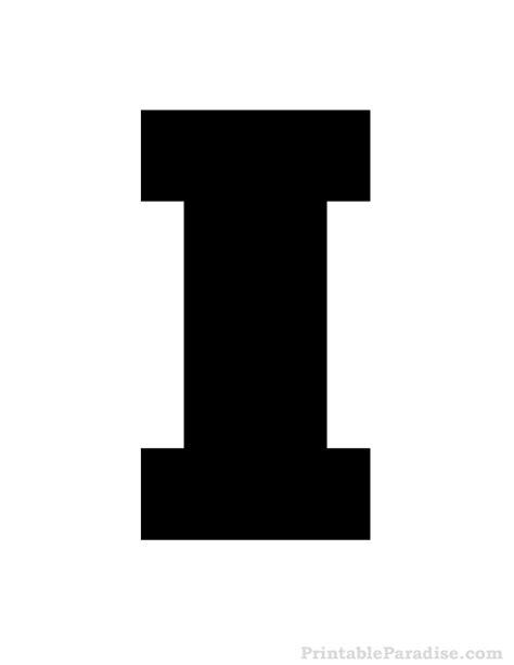printable stencil letter i printable letter i stencil print stencil for letter i