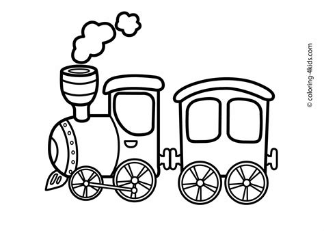 free coloring pages of train track