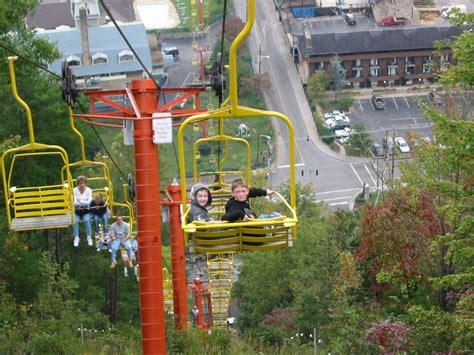 gatlinburg tn grandsons on chairlift photo picture