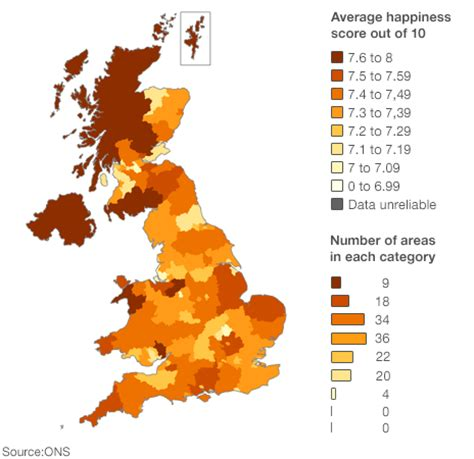 this awesome map shows the happiest place in each state northern ireland the happiest place in the uk robertson