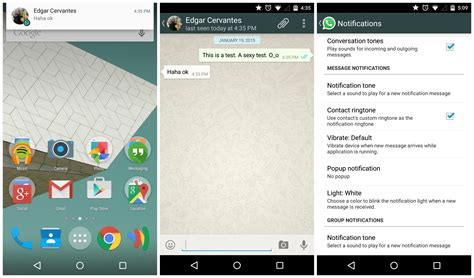 whatsapp android whatsapp finally plays with android 5 0 lollipop s priority notifications