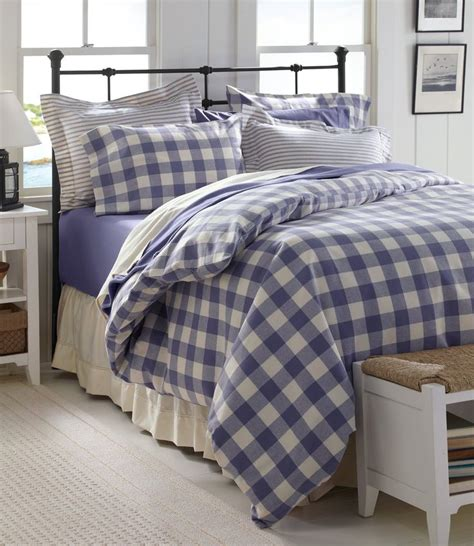gingham bedding l l bean ultrasoft flannel comforter for the home