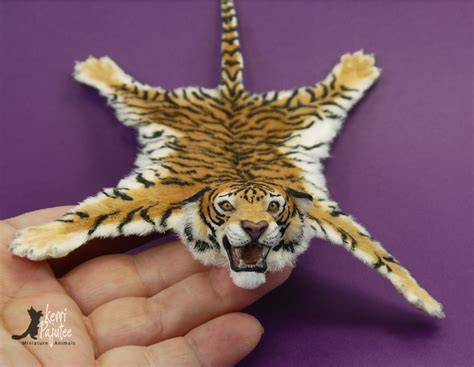 the tiger skin rug miniature tiger skin rug sculpture by pajutee on deviantart