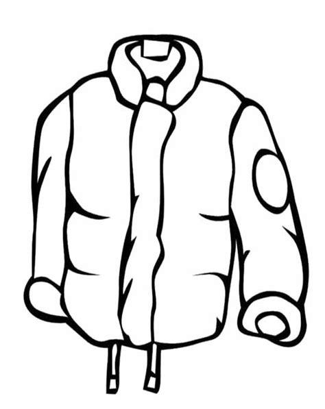 rain jacket coloring page cartoon coat