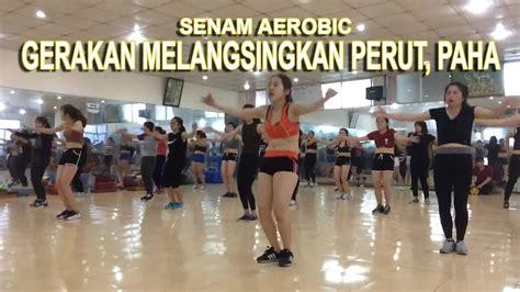 tutorial gerakan zumba full senam aerobic melangsingkan perut dan paha membakar
