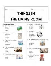 of finding things in a room teaching worksheets living room