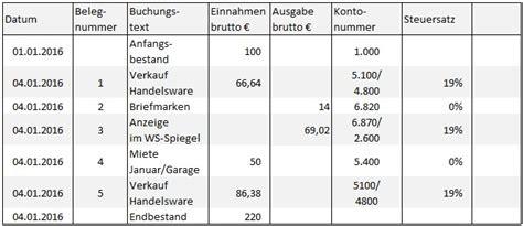 Musterrechnung Wko Kleingewerbe Friseur Das Kassenbuch Anforderungen Und Tipps
