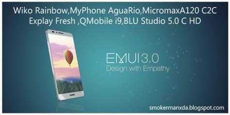 qmobile a120 themes emui v3 0 wiko rainbow myphone agua rio micromaxa120 c2c