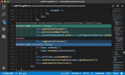 tutorial git diff version control in vs code