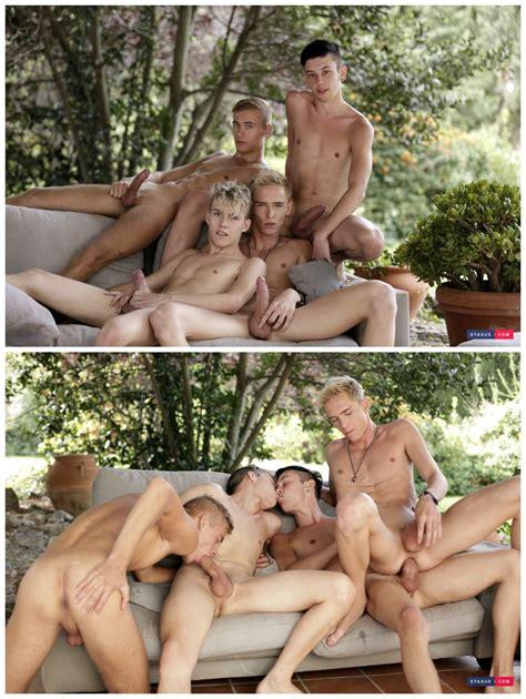 Bareback gay male group