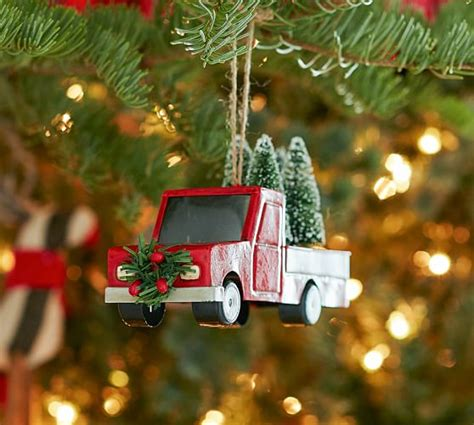 red truck ornament pottery barn