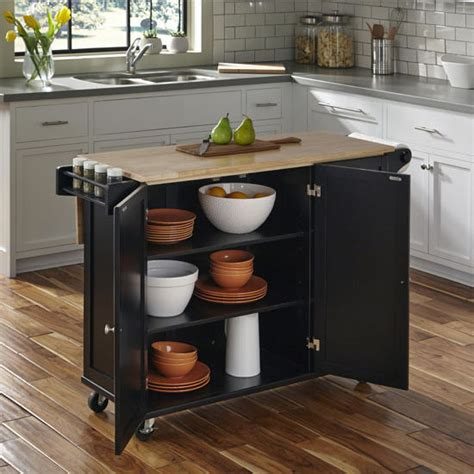 home styles liberty kitchen island with stainless steel liberty wood top mobile kitchen cart w wood or stainless