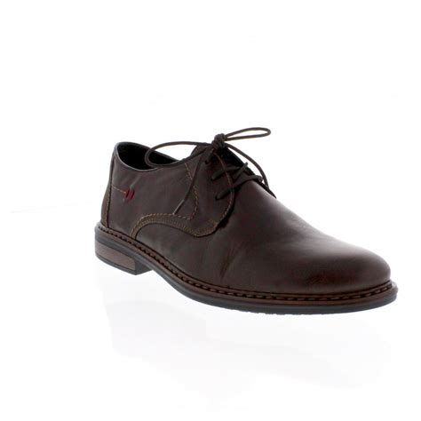 rieker 17610 26 mens brown lace up shoe rieker mens from