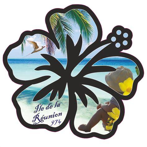Stiker Re hibiscus ile de la r 233 union stickers sticker 974