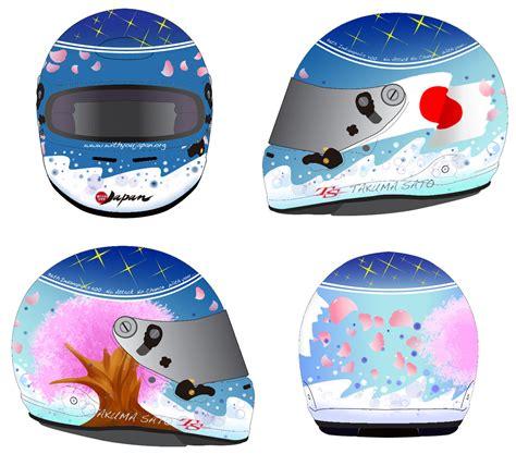 design a helmet competition takuma sato indy 500 charity helmet design contest winner