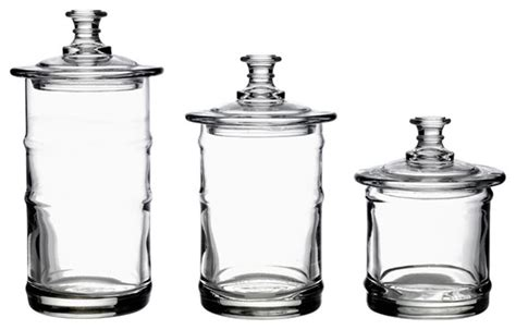Glass Kitchen Storage Canisters | la rochere french glass kitchen storage jars traditional
