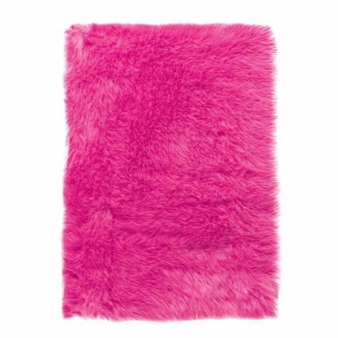 Home Decorators Collection Faux Sheepskin Hot Pink 8 Ft X Rugs Pink