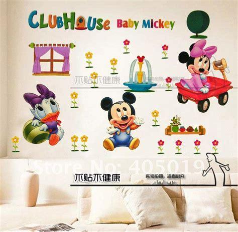 Daycare Wall Decor by 60x90cm Hl6857 Mickey Mouse Wall Sticker Minnie